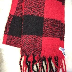 Oversized flannel scarf